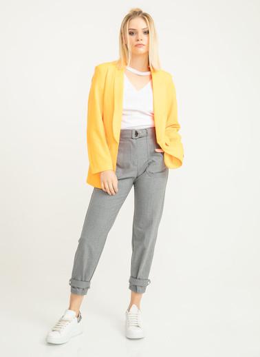 Foremia Neon Atlas Blazer Ceket Oranj